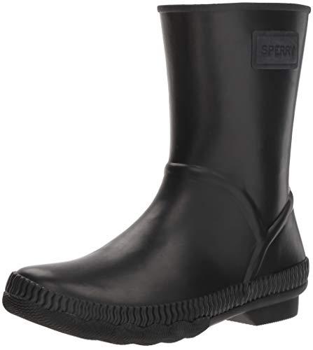 Sperry Women's Saltwater Current Rain Boot, Black, 5.5