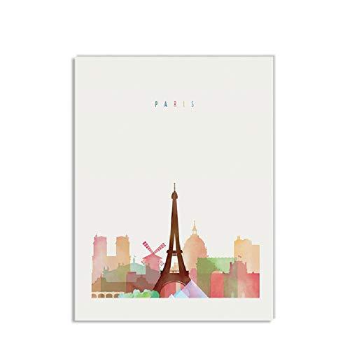 New York Stampa finestra su tela 60 x 80 cm multi-colour