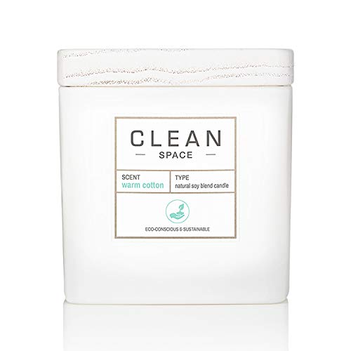 CLEAN SPACE Candle | Natural Soy Blend Scented Candle | Premium Non-Toxic Candle Made with Sustainable Ingredients | Up to 40 Hour Burn Time | 8 oz