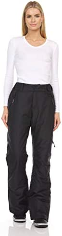 Arctic Quest Womens Water Resistant Insulated Ski Snow Pants with Pockets Black XL product image