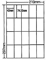 CL-22FH-5 OAラベル エコ&セキュリティ分別処理可能再剥離タイプラベル (42×74.25mm 20面付け A4判) 5梱(ビニール封筒用、分別...