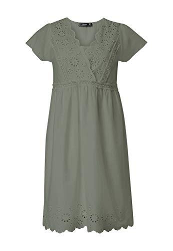 HALLHUBER Hängerkleid mit Spitze & Perlen weit geschnitten Salbei, 34