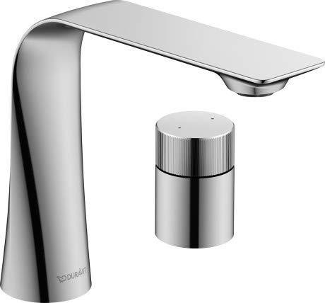 Duravit D.1 D11120009010 - Grifo monomando para lavabo (2 orificios, mango giratorio), color cromo