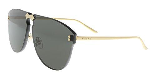 Gucci GG0354S 001 Gold/Grey Aviator Sunglasses