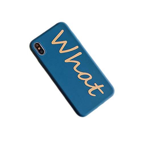 ZHYLIN - Carcasa para iPhone 11 Pro Max con letras para iPhone X XS XR Max 8 7 6 S Plus 11 Pro MAX (silicona suave), silicona, iPhone 6 6S Plus, Azul