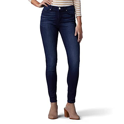 LEE Women's Sculpting Slim Fit Skinny Leg Jean, 14 Long, Nightingale