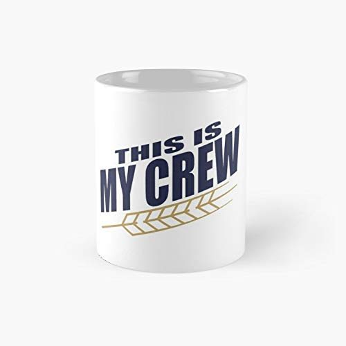 This is My Crew - Taza clásica con texto en inglés 'Best Gift Funny Coffee' (325 ml)