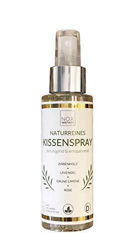 100% naturreines Schlafspray, Kissenspray und Raumduft | Schlafmittel mit Zirbenöl, Lavendel, grüne Limone und Rose | frei von Melatonin