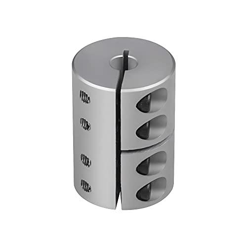 Sinoblu 9mm to 10mm Shaft Coupling, Aluminum Rigid Clamp-on Couplings D20 L35, Shaft Coupler for Stepper Motor Servo Motor CNC Machine 3D Printer DIY Encoder
