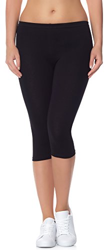 Ladeheid Leggings Donna 3/4 LAMA01 (Nero13, S/M)