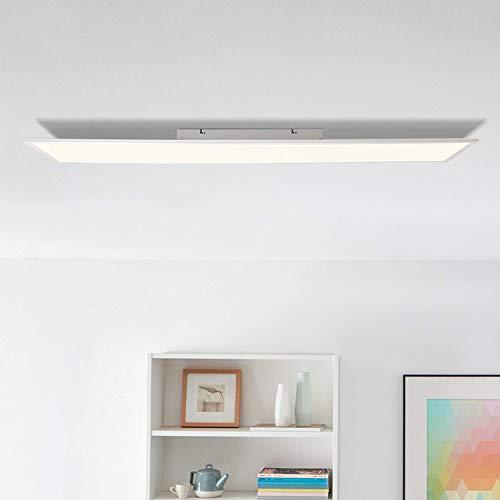 LED Panel Deckenleuchte 120x30cm, 36 Watt, 3600 Lumen, 2700 Kelvin aus Metall/Kunststoff in weiß