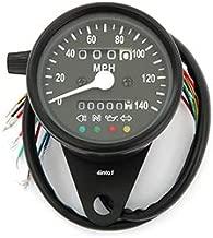 Mini Speedometer w/ Indicator Lights & Trip Meter - 2240:60 - Black - MPH - Motorcycle Scooter Dirt Bike