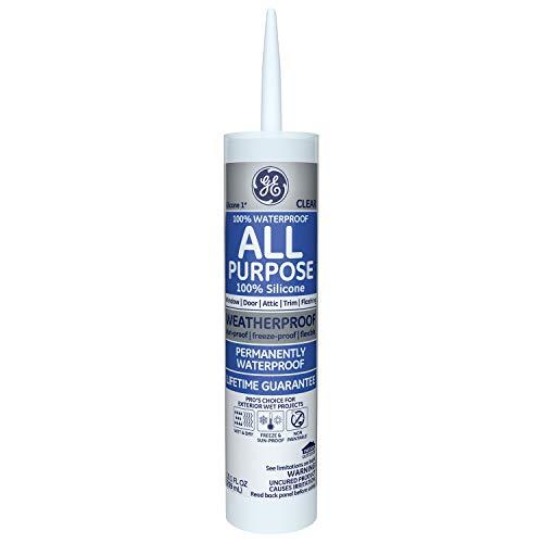 GE GE012A Silicone 1 All Purpose Sealant Caulk, 10.1oz, Clear - 12...