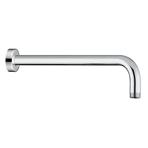 """Braccio doccia a parete, design tondo, in acciaio cromato, attacco universale G ½"""" per soffione doccia"""