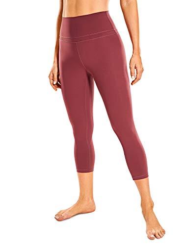 CRZ YOGA Mujer Naked Feeling Leggings Deportivas Cintura Alta Yoga Fitness Pantalones con Bolsillo -48cm Sabana R418 36