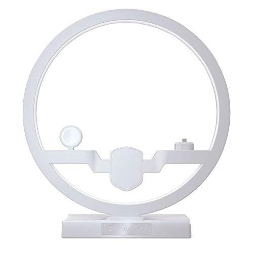 WLKJ 3 en 1 inalámbrica Soporte de Carga, el Cargador inalámbrico con lámpara para la estación del Cargador iPhone 11Pro XS para Apple Seguir Airpods Cargador rápido del cojín para Samsung,Blanco