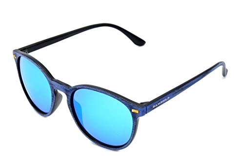 Gamswild Gafas de sol WM1020 GAMSSTYLE Moda Gafas Mujer Hombre Aspecto de Madera Unisex | Azul | Oro | Verde/Turquesa | Rosa