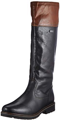 Remonte Damen R6581 Stiefelette, Schwarz (black/brown/02), 36 EU