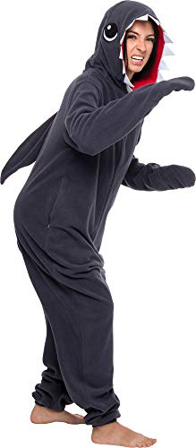 Silver Lilly Slim Shark Costume - Adult One Piece Cosplay Animal Pajamas