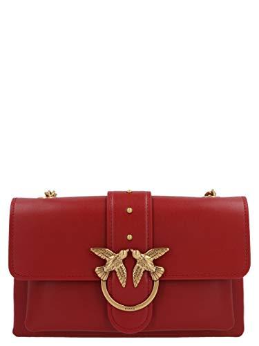 Pinko Luxury Fashion Donna 1P21SKY6JCR72 Bordeaux Pelle Borsa A Spalla | Autunno-inverno 20