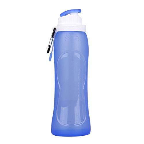 Goldyqin Botella de Agua Plegable de Silicona de Gran Capacidad de 500...