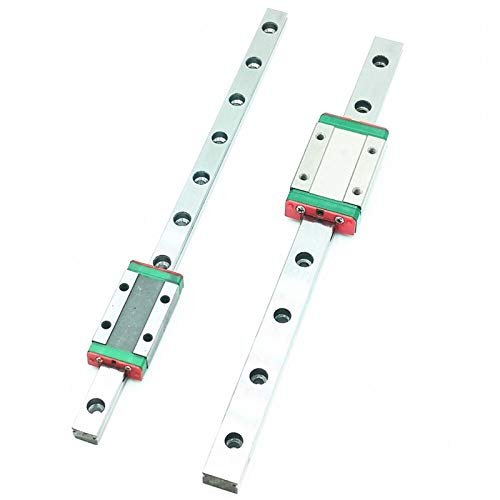 qfkj Linear Guides Imprimante 3D Miniature MGN7 MGN12 MGN15 MGN9 L 100 350 400 500 600 800mm Linear Rail Diapositive 1PCS MGN Guide linéaire Bearing (Color : MGN9H, Guide Length : 900mm)