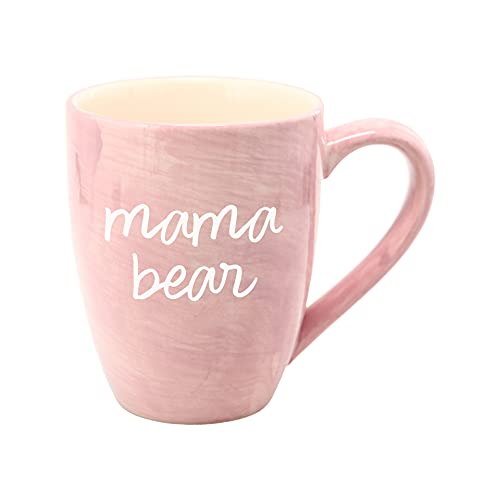 Mom Life Mama Bear Pink Large 20 oz Ceramic Coffee Mug Tea Cup, Pink