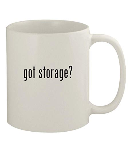 got storage? - 11oz Ceramic White Coffee Mug, White