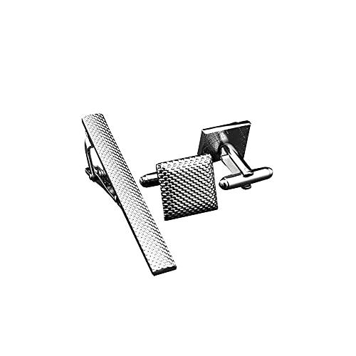 YOFASEN Herren Krawattennadel Manschettenknöpfe Set - Klassisch Zubehör Krawattenklammer Manschettenknöpfe für Geschäftliche Anlässe Hochzeit