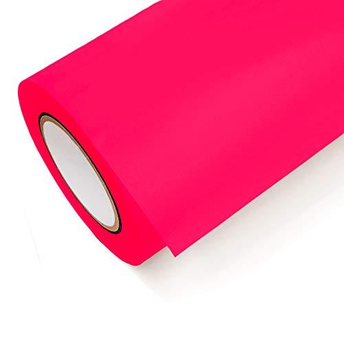 NEON Folie Oracal 6510 Fluorescent Cast - Klebefolie Möbel Folie Deko Folie Autofolie - Farbe Neon Pink - 046 - Breite 1m - Rollenlänge 1m