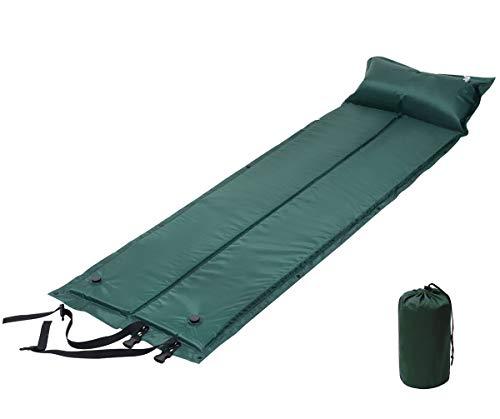 Athyior Camping Isomatte Selbstaufblasend mit Kissen Isomatte Aufblasbare Luftmatratze Schlafmatte Tragbare Ultraleichte Faltbar für Outdoor Camping Reise Wandern Strand