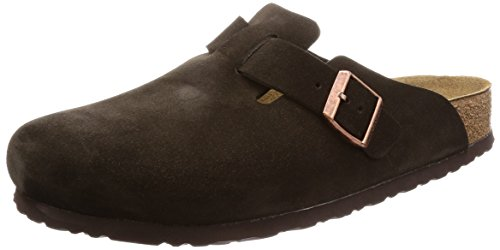 Birkenstock Boston Soft Footbed (Unisex), Mocha Suede
