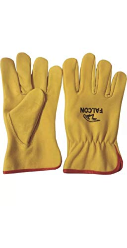 Leather Work Gloves Lorry Driver, Yard Work, Gardening, Warehouse, Construction, Farm DIY Workers...