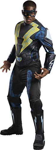 Rubie's Men's DC Comics Adult Black Lightning Deluxe Costume, Standard, As Shown