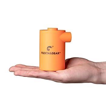 FLEXTAILGEAR MAX PUMP 2020 Le gonfleur portable avec une batterie de 3600 mAh est un pompe à air USD chargeable qui permet à gonfler et dégonfler rapidement et est applicable au coussin d'air (Orange)