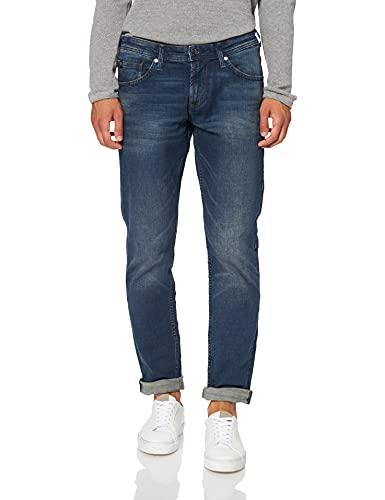 TOM TAILOR Denim Herren Piers Slim Jeans, 10282 - Dark Stone Wash Denim, 34W / 32L