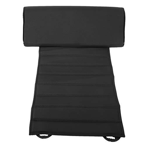 OVBBESS Universal Car Leather Leg Pad Soporte Extensión Mat Suave Pie Soporte Pierna Cuero Cojín Rodillera Memoria Negro