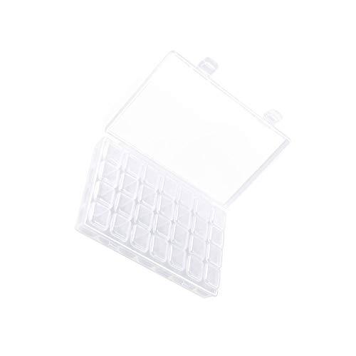 N/H Aufbewahrungsboxen aus Kunststoff, transparent, 28 Fächer, Weiß