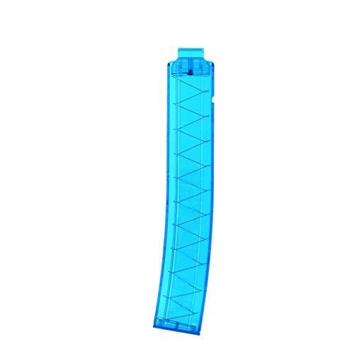 WORKER 18-Darts Short Darts Clip Curvo Talon Revista para Nerf Modify Series Toy & Nexus Pro (Azul Transparente)