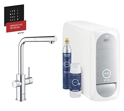 GROHE Blue Home | Küche - Spültischarmatur mit FILTERFUNKTION und WiFi | L-Auslauf Starter Kit | 31539000