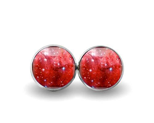 Pendientes de moda exquisitos, pendientes de estrella roja, joyas de vidrio, regalo para ella