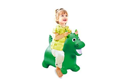 Jamara 460315 - Hüpftier Drache grün mit Pumpe - fördert Gleichgewichtssinn und motorische Fähigkeiten, Tierohren dienen dem Kind als Halt, belastbar bis 50 kg, Pflegeleicht, robust & widerstandsfähig