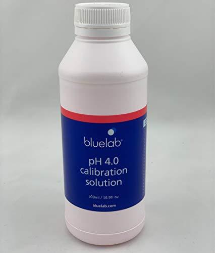 Bluelab pH 4.0 500ml Eich-Flüssigkeit Kalibrier-Lösung für Mess-Geräte pH-Elektroden Puffer-Kit Wert-Tester Prüfer (500ml, PH 4.0)