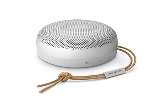 Bang und Olufsen Beoso& A1 (2. Generation)– ein tragbarer, wasserdichter Bluetooth-Lautsprecher mit Mikrofon, Grey Mist
