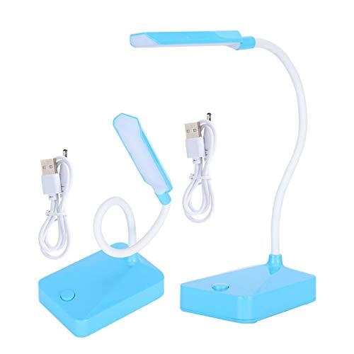 Lámparas plegables de oficina en casa Lámparas de cuello de cisne flexibles azules Seguras y confiables Tamaño pequeño para oficina para acampar para estudiar
