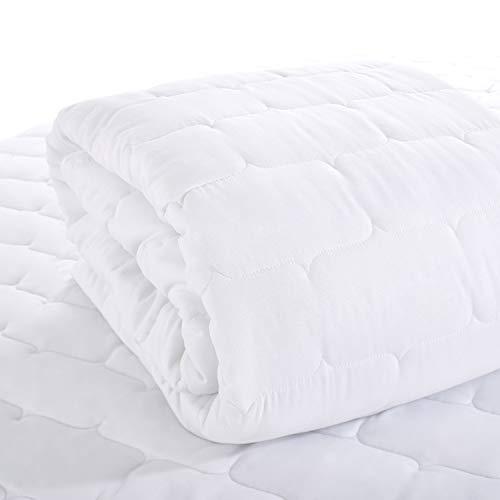ViscoSoft - Protector de colchón MicroMat  - Colchoneta impermeable, respirable e hipoalergénica - Acolchado grueso (200 g / m2) y silenciador - Mantenimiento fácil - 160 x 200 cm