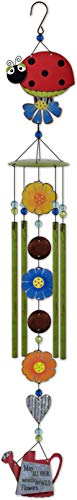 Sunset Vista Designs 93359 Country Gardens Wind Chime, Ladybug