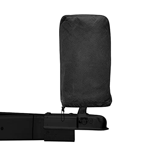 DikaSun Tongue Jack Cover for RV Trailer Waterproof Heavy Duty 3 Layers Polyester RV Accessories Universal Trailer RV Camper Electric Tongue Jack Protective Cover for Outside 17.7″H x 8.3″W x 8.3″D