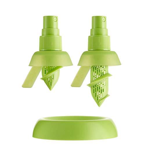 LHK 3 Stück Zitronensaft-Sprayer, manuelles Orangenspray, multifunktionales kreatives Quetschhalter-Teller-Küchengerät, für Salat-Zitrusgemüse [Grün]