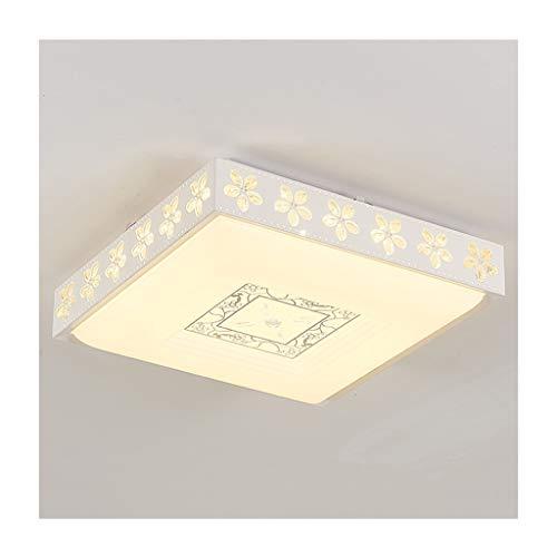 GPZ-iluminación de techo Luz de techo Moderno Simple LED Hierro Acrílico Rectángulo Salón Decoración Dormitorio Estudio Comedor Entrada Oficina Hotel Lámparas de techo [Clase energética A ++]